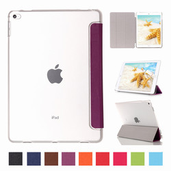 Folding Stand Leather Clear back Tablet Cover Case for iPad Pro 12.9 Inch
