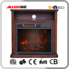 Decor Flame Effect fireplace blower heater with large component shelf
