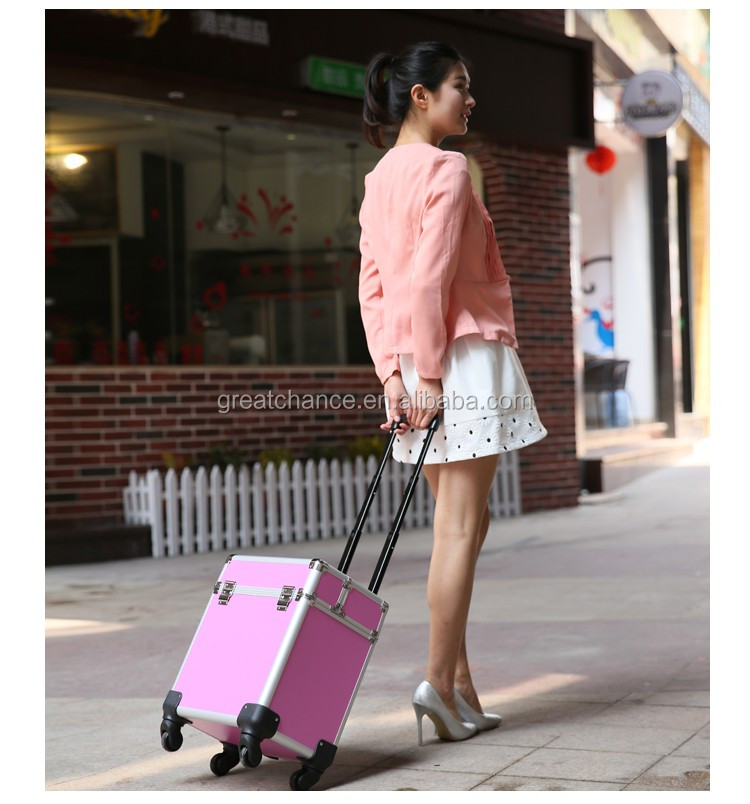 Beauty Trolley Vanity Case Make up Cosmetic Box Bag Hairdressing Nail Salon