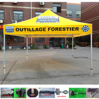 4x4 high quality all aluminum pop up tents with custom printing