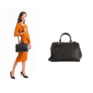 ladies leather vanity bag