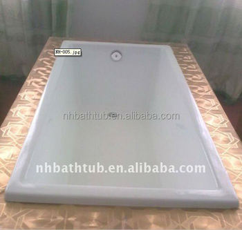 built in custom size hotel project cast iron bath tubs for sale in Chinese