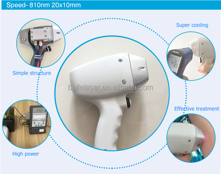 Soprano ice 808nm diode laser head repair /laser handle