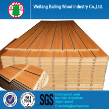 Low price mdf slat board from mdf factory