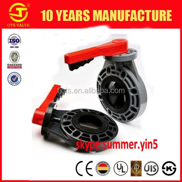 BV-SY669 PVC Wafer Butterfly Valves Plastic Butterfly Valve /PVC valve /FRPP valve