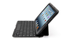 Folio keyboard case for iPad Mini1/2/3 with aluminum bottom PU leather Bluetooth keyboard case without backlit keys