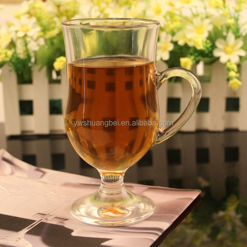 300ml promotional gifts beverage glass factory price juice mugs drinking glass cup with handle