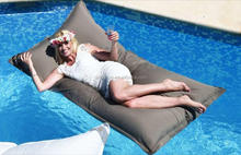 Giant size outdoor bean bag chair, pool side beanbag lounger,easy fun waterproof bean lazy beds on swimming pool
