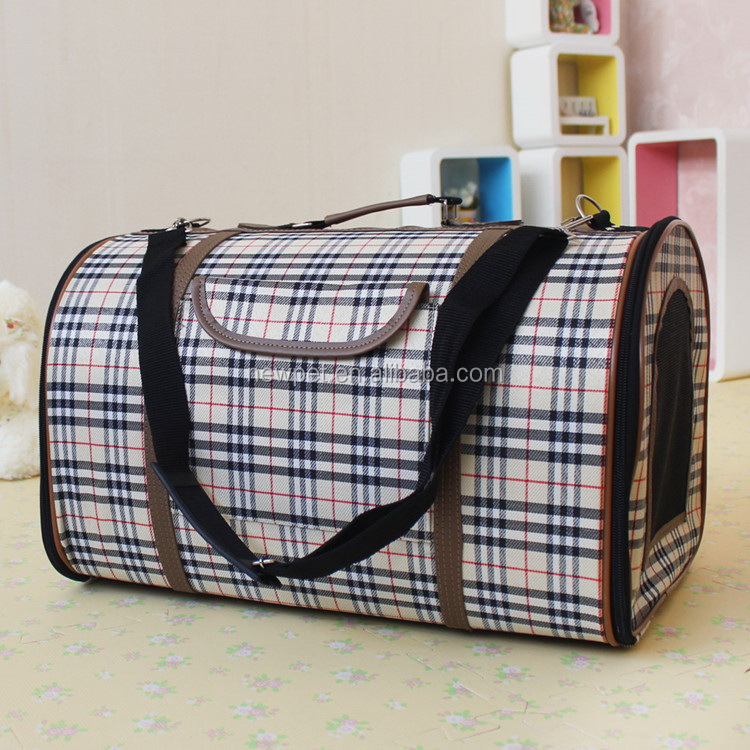 Top level modern design luxury grid pet dog backpack outdoor pet bag carrier
