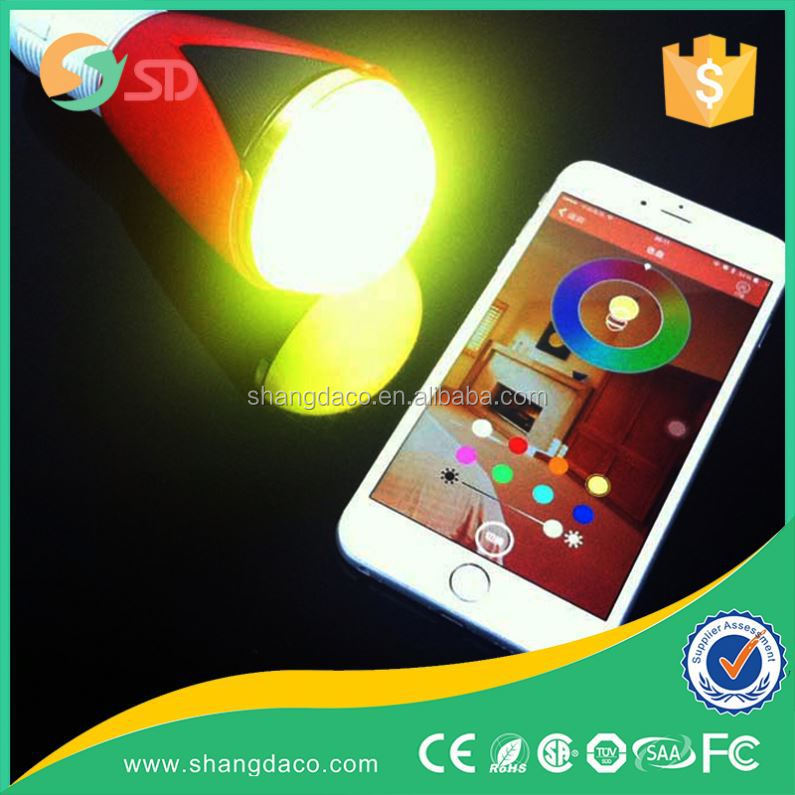RGB smart led like iPhone Android smart phone controlled, 5w bluetooth led rgb bulb
