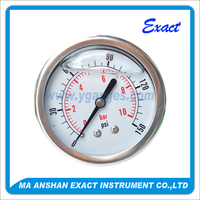 shock-proof hydraulic one piece pressure gauge