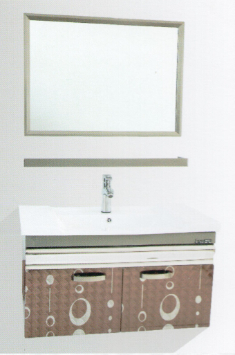 Classical Artistic Style Floor Mounted Bathroom Vanity Cabinet