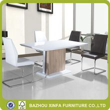 Cheap wholesale white high gloss dining room or office used wood table