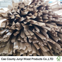 Customized Triangular Wood Strips Paulownia Wood