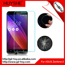 HUYSHE tempered glass screen guard for asus zenfone 2 5.0 inch clear screen protector for zenfone 2