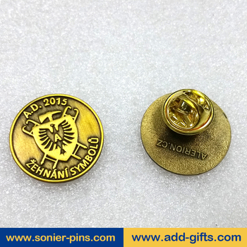sonier-pins custom clothing brand gold military lapel pins badges