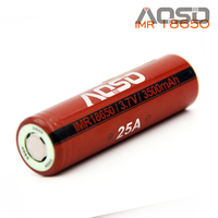 Aoso imr 18650 3500mah 25a high drain battery for dewalt power tools battery e cig battery