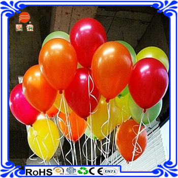 New Year Favors 12 Inches Metallic Color Latex Helium Balloons For Party