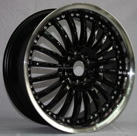 17 inch racing alloy wheel for auto car / alloy rim with rivet