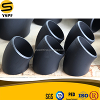 high quality carbon steel pipe fitting sa234 wpb carbon steel ms elbow
