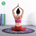 Best Price Comfortable Surface Wholesale Printed Round Yoga Mats For Meditation Cushion
