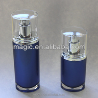 Hot Blue Lotion Bottle 30ml 50ml; Cosmetic Blue Water Bottle