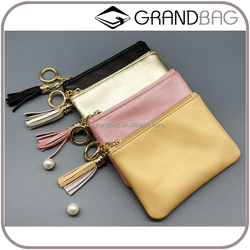 Wholesale Simple Style Sheep Leather Women Coin Purse Fashion Ladies Cutch bag Credit Card Holder