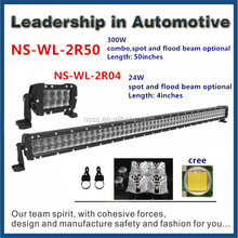 50000 hours life time 26 inch led light bar 144w spot light for tuck boat waterproof IP68