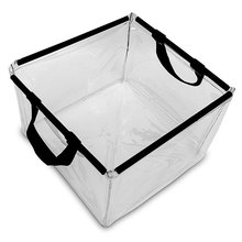 Clear PVC Outdoor Camping Wash Basin Foldable Water Bucket
