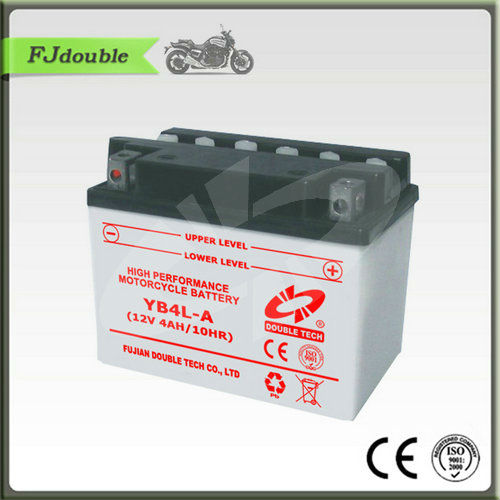 Best MF super sealed motorcycle battery YB4L-A(12V4AH)