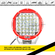 "Nokpro DC10-30V IP68 aluminum 9"" inch 96W round offroad led driving light for truck tractors super bright car accessories"