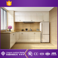 modern high gloss white pvc laminate kitchen cabinet door modern furniture from guangzhou china