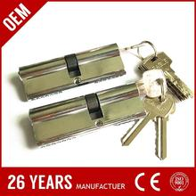 CE aluminium double dom key cylinder dimple lock cylinder with low price