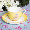 Hot sale ceramic espresso cup&saucer with beautiful design printing