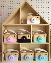 Wholesale Baby Kids Cute Wooden Camera Toys Children Fashion Clothing Accessory Safe And Natural Toys Birthday Christmas Gift