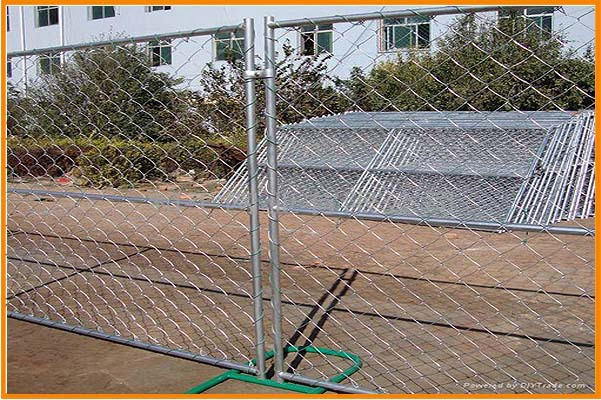 Cheap hot dipped galvanized temporary construction chain link temporary fence , hot sale temporary construction fence panels