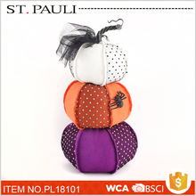 table top stuffed combined pumpkin decorations halloween accessory from shantou factory