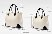 taiwan online shopping stylish genuine leather women tote shopping bag