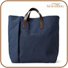 Promotional Businessman Navy Men Canvas Tote Bag for A4 file