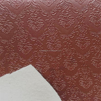 High quality floral pvc decorative leather HX1501