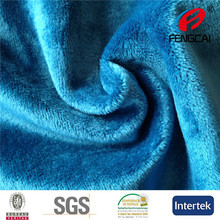 Haining Fengcai specialized in 100% polyester soft velboa tecido plush fabric for toy 3MM