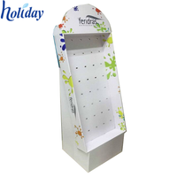 Store Promotional Retail Cardboard Hook Display Stand Rack For Hanging Items,Hanging Display Stand for Retail