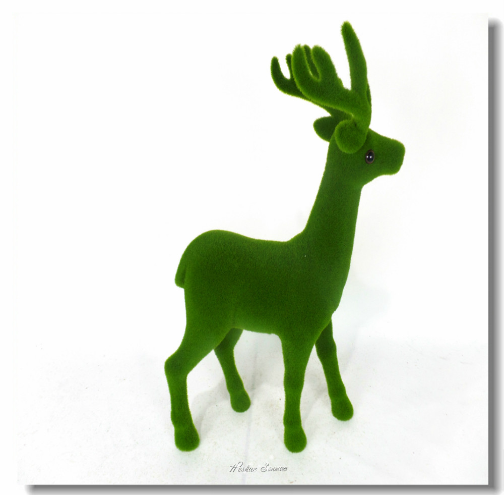 High imitation artificial moss dear figurine moss covered animals for sale