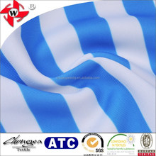 2018 Chuangwei Textile Nylon Blue And White Striped Blend Printed Spandex Stretch Fabric