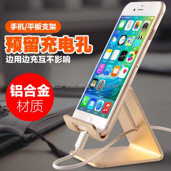 Universal Premium Aluminum Metal Mobile Phone Tablet Desk Holder Stand for iPhone Samsung Smartphone Kindle Tablets