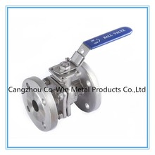 stainlesss steel 2 piece flanged ball valve with ISO5211 pad