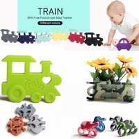 2015 Hot selling FDA bpa free silicone funny baby teether toys for 1 year old