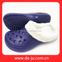 Purple EVA Winter Garden Clogs Lining Winter Indoor Slipper