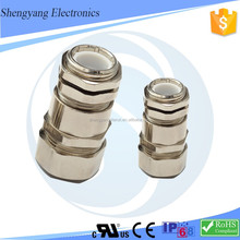 SY Unti-Loose M12 Metal Cable Wave Pipe Joint Connection Fixed Head