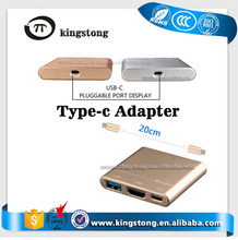 USB 3.1Type C To VGA USB Adapter Type C to Hdmi Cable 3 In 1 USB Adapter